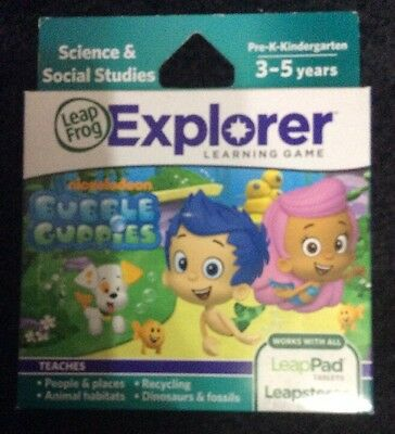 NEW ~ Leapfrog Leapster Explorer BUBBLE GUPPIES GAME Leap Pad 2,3,GS,XDi Ultra