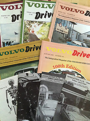 6 x Volvo Owners Club Driver Magazine from 1993/94/95 and 4 newsletters