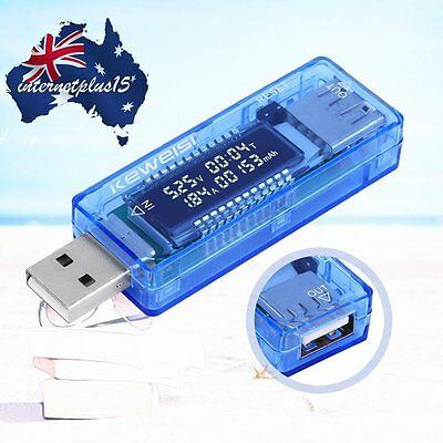USB Volt Current Voltage Doctor Charger Capacity Tester Meter Power Bank NEW X3