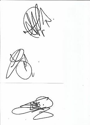 british band BUSTED signed WHITECARDS