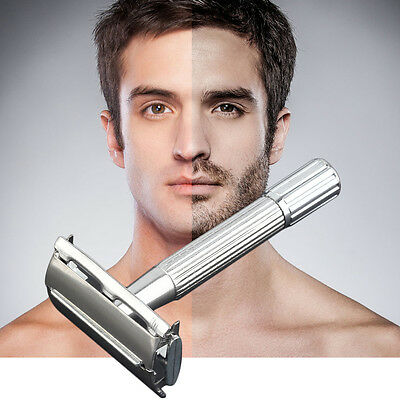 Men's Classic Traditional Shaver Double Blade Safety Shaving Salon Razor X3