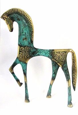 Ancient Greek Bronze Museum Statue Replica Geometric Era Horse Collectable 121