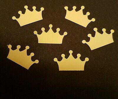 50 yellow Crowns party decorations birthday wedding table confetti scrapbooking