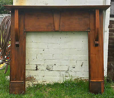 Solid timber fireplace mantel/mantle piece surround