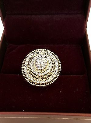 Bollywood Indian Wedding With Stones Gold Tone Party Ring Adjustable Size 5-9