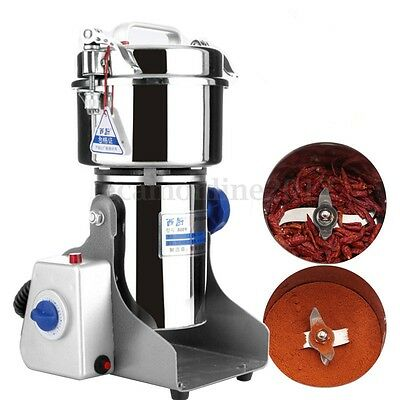 800G High Speed Electric Grinder Mill Flour Herb Powder Grain Grinding Machine