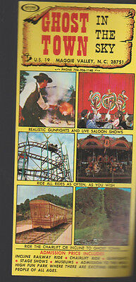 Ghost Town in the Sky Maggie Valley NC 1970s Ad Sheet