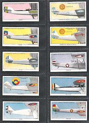 1937,lambert & Butler,aeroplane Markings,full Set Of 50 Cards