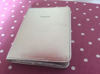 JOHN LEWIS Silver Leather Bound Notebook A5