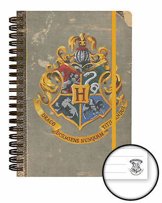 Harry Potter - Hogwarts - Notizbuch A5 Notebook, Block, Ringbuch, Spiralbuch