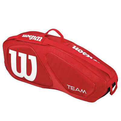 Wilson 2017 Team II 3 Racket Tennis Racquet Bag - Red