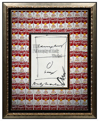ANDY WARHOL Original Signed CAMPBELLS SOUP Ink DRAWING Pop ART painting TOMATO