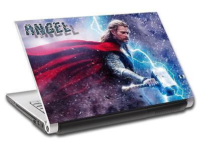 Thor The Avengers Personalized LAPTOP Skin Vinyl Decal Sticker WITH NAME L204