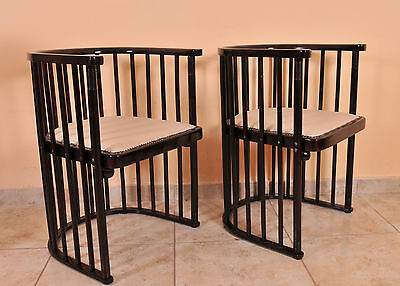 Pair of Josef Hoffmann Jugendstil Barrell chair, 1910's