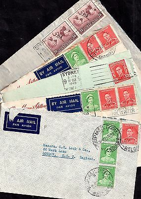 Australia KGVI 5 x postal history cover collection JB40