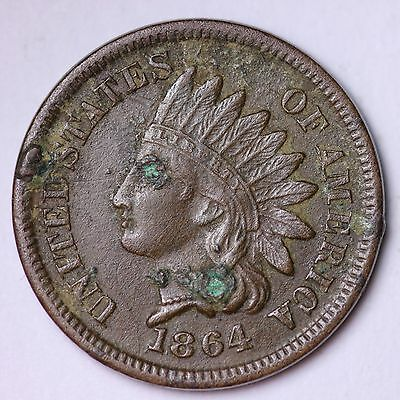1864 Indian Head Small Cent XF detail FREE SHIPPING E113 N
