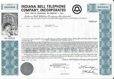 Indiana Bell Telephone Company Incorporated....debenture Due February 2010