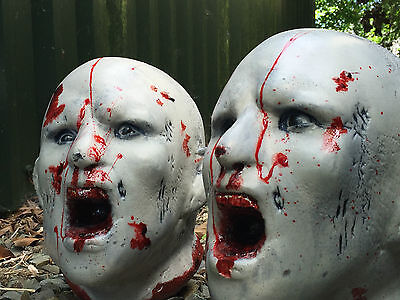 A PAIR of Zombie 3D Archery Targets NEW! Splattered in Blood Superb to Shoot!