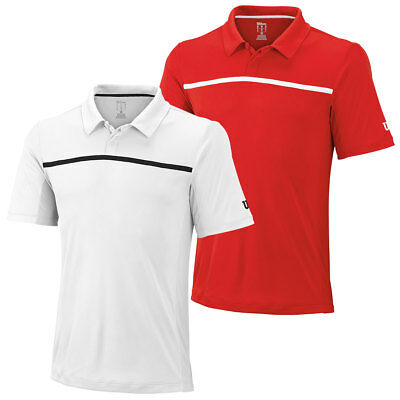 Wilson Sport Mens Team Polo Shirt W Tennis nanoUV Short Sleeve