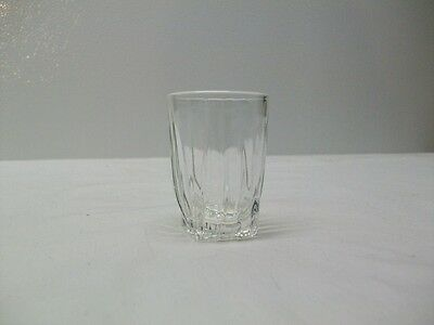 Vintage Federal Glass Shot Glass With Square Bottom