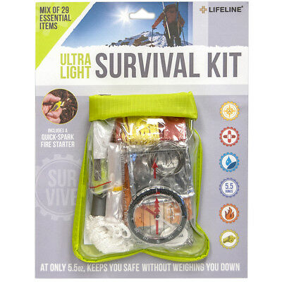 Lifeline Ultra-Light Weather-Resistant Survival First Aid Kit - 29 Pieces