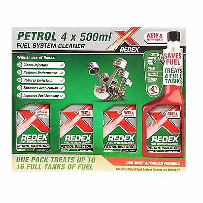 1x 500ml Redex One Shot PETROL Fuel Engine Cleaner Injection Redx Red