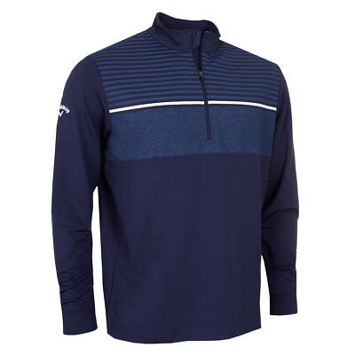 Callaway Golf 1/4 Zip Chest Striped Opti-Shield Thermal Pullover 44% OFF RRP
