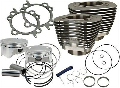 """S&S Cycle 98"""" CI Big Bore Cylinder Kit Black 9.8:1 Compression 99-06 Harley"""