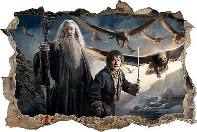 Gandalf & Bilbo The Hobbit Smashed Wall Decal Wall Sticker Art Mural H880