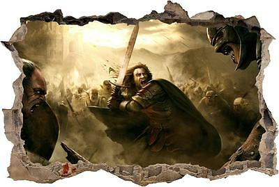 Aragorn Lord Of The Rings Hobbit Smashed Wall Decal Wall Sticker Art Mural H884