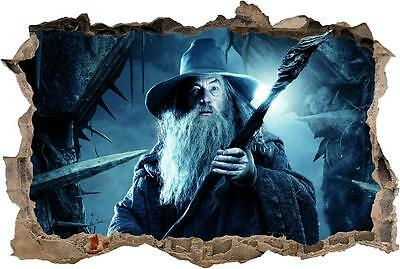 Gandalf Lord Of The Rings Hobbit Smashed Wall Decal Wall Sticker Art Mural H881