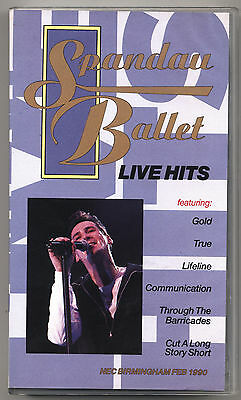 VHS - SPANDAU BALLET - Live Hits - UK 1990 - COME NUOVA