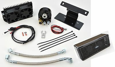 UltraCool Black The Reefer Oil Cooler Fan Engine Cooling System Harley Softail