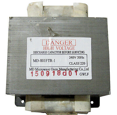 Microwave Oven - Transformer Replacement Part Md-801Ftr-1