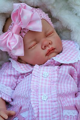 Butterfly Babies Reborn Baby Doll Fake Baby Girl Gingham Spanish Outfit S