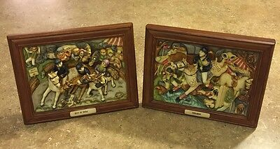 Best in Show AND Showboat Harmony Kingdom Picturesque 3D Limited WITTY, FRAMED