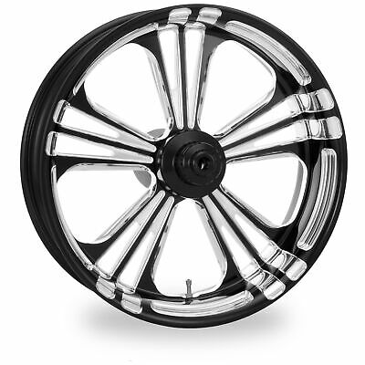 PM Black Platinum 21x3.5 Front Dual Disc Icon Wheel Harley 08-16 WO ABS