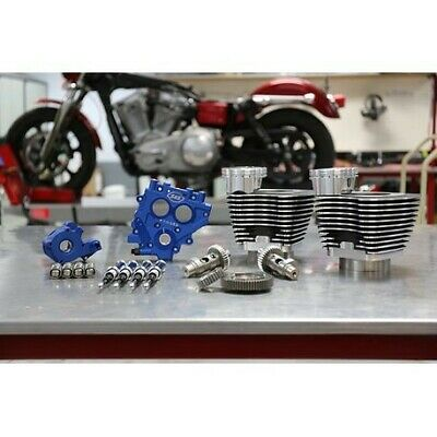 """S&S Cycle Winter Power Package 100"""" Black Big Bore Kit w/ 585 Gear Cams 99-06"""