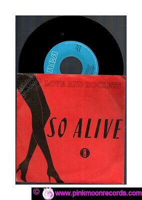 """Love And Rockets So Alive + Bike 1989 Rca Pb 49399 Italy 7"""" 45 Rpm"""