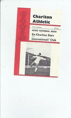 Charlton Athletic X1 v International Club X1 John Hewie Testimonial 1965/66