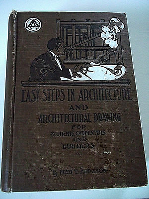 Vintage architecture drawing builders huge rare book 1907 many photos, illust.!!