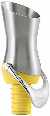 Savora Stainless Steel Kitchen Wine Pourer and Stopper - Citron
