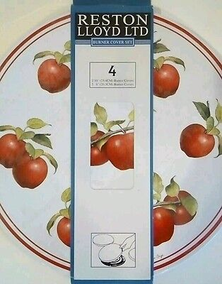 Country Red Apples Burner Covers 4 Electric Stove Covers Set Cooking Concepts