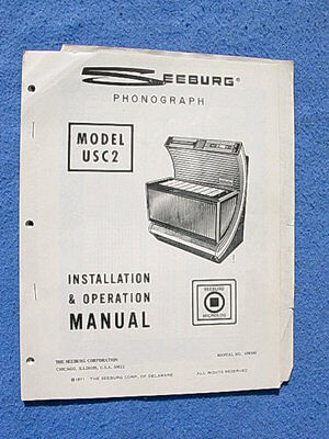 Seeburg USC2 Bandshell Firestar Installation & Operation Manual # 498566