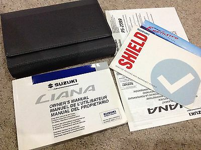 Suzuki Liana - Service Book  Owners Manual - Wallet & Handbook Pack