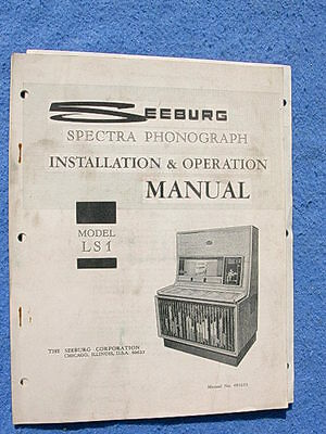 Seeburg LS1 Spectra Installation & Operation Manual # 493223