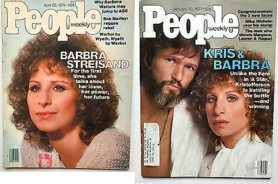 Barbra Streisand - Lot of Star Is Born People Mags 4-26-76 & 1-10-77  (FN/VF)