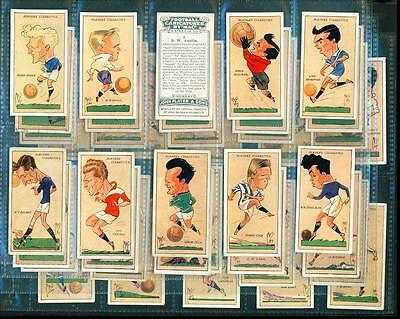 PART SET – 40/50 x FOOTBALL CARICATURES BY MAC – PLAYERS – 1927