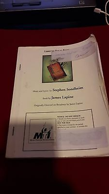 Into The Woods Libretto / Vocal Book