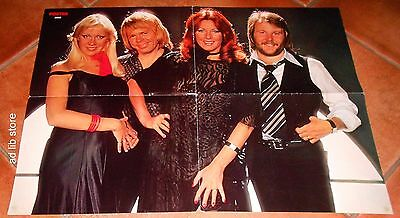 "ABBA - 2 SIDED SWEDEN POSTER 22.8"" x 16.5"" 1970s"